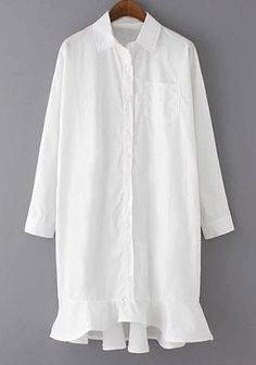 Resort Dress Shirt with Bottom Details White                                                                                                                                                                                 More