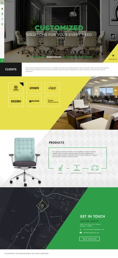 Archee Interior & product Manufacture website on Behance