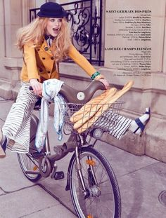 """Paris, Je t'Aime"": Tessa by Angelika Buettner for Plaza Sweden. I hear we are getting a Velib-like program in NYC!"