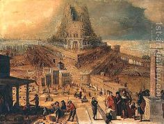 Hendrick van Cleve:The building of the Tower of Babel