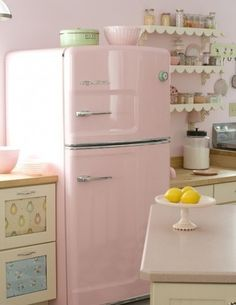 Retro Pink Kitchen a thappy day out tumblr on We Heart It - http://weheartit.com/entry/88397873