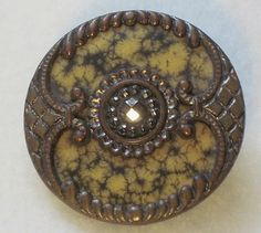 Antique Metal and Celluloid Button wih Cut Steel 1 25 inch 443 | eBay