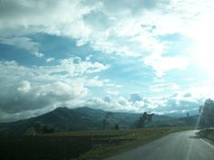 Via a Villa de Leyva hermoso paisaje Colombiano