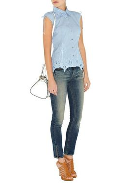 Top 10 Grey Gray Karen Millen Pinstripe Sleeveless Shirt Blue Multi Hn036 Sale,Karen Millen Pinstripe Sleeveless Shirt