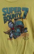 STAR WARS BOBA FETT T-SHIRT SUPER BOUNTY HUNTER 7 SUPER MARIO YELLOW SHIRT