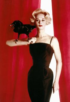 "Tippi Hedren in ""The Birds""....so scary back in the day..."