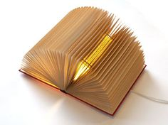 Booklamps - from recycled books!