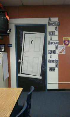 Twilight Zone Themed Door!
