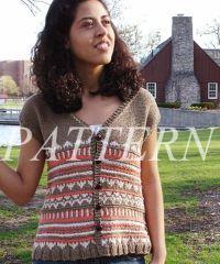 Misti Alpaca Fair Isle Vest Pattern - Cotton