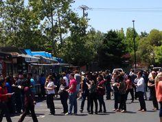 Go Day 2014. Food Trucks in parking lot in MV.