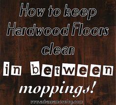 To to keep floors {fake} clean in between moppings.  #cleaningtips