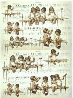 Ricepaper Decoupage Paper Scrapbooking Sheets Craft Paper Vintage Angels   eBay