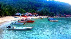 La plage de Coral Bay - Malaisie