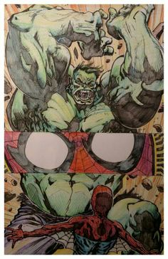 #Hulk #Fan #Art. (Brent McKee Hulk V Spiderman) By: JoshJ81. (THE * 5 * STÅR * ÅWARD * OF: * AW YEAH, IT'S MAJOR ÅWESOMENESS!!!™) ÅÅÅ+