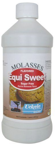 Equi Sweet - Pint Molasses by Uckele Health & Nutrition. $8.95. Equi-Sweet is a sugar-free flavoring to enhance the palatability of feed or supplements. Made with natural sweetener Stevia. Zero calories, zero carbs, zero glycemic index. Molasses or peppermint. Manufacturer Part Numbers: EQUI SWEET PT