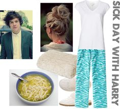 """""""Sick Day with Harry"""" by for-the-love-of-music ❤ liked on Polyvore"""