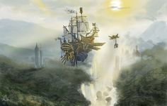 Grand Sky ship by ~JoshuaCadogan on deviantART