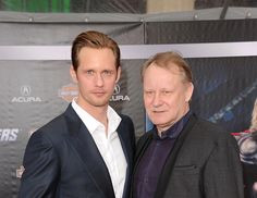 Now: At the 2012 premiere of Marvel's The Avengers. | Alexander Skarsgård And His Dad: Then And Now