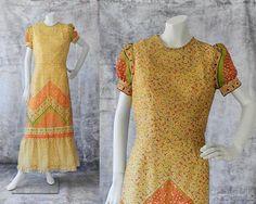 The Bohemian Spirit Short Sleeve Dresses, Dresses With Sleeves, 1970s, Fashion Dresses, Bohemian, Floral, Vintage, Style, Fashion Show Dresses