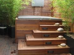 above ground hot tub deck - Google Search                                                                                                                                                                                 More