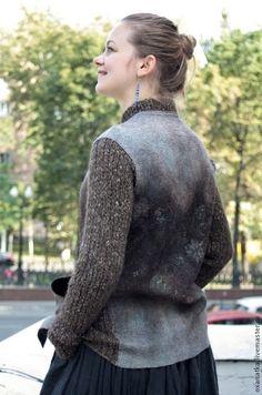 Пиджаки, жакеты ручной работы. Ярмарка Мастеров - ручная работа Валяная куртка Предчувствие. Handmade.