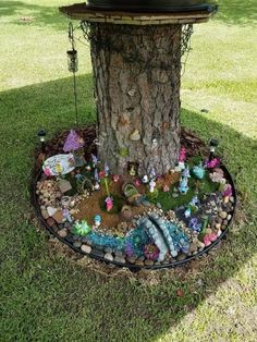 DIY fairy stump house