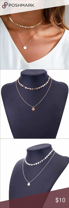 New2 Layered Gold or Silver Dainty Necklace Brand new Silver or gold medallion necklace. This is so gorgeous and will go with everything! dress it up or down this is a must! Jewelry Necklaces