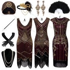 Roaring 20 Flapper Gatsby Party Evening Cocktail Dress Plus . Roaring 20 Flapper Gatsby Party Evening Cocktail Dress Plus Size Roaring Twenties Party, Roaring 20s Wedding, 1920s Wedding, Wedding Veils, Party Wedding, Wedding Hair, Bridal Hair, Wedding Ideas, Gatsby Outfit