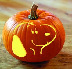 Snoopy jack-o-lantern
