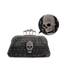 Ladies Mujer Skull Fashion Clutch Bag