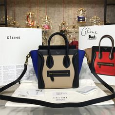 product code # 8572814 100% Genuine Leather Matching Quality of Original Celine Production (imported from Europe) Comes with dust bag, authentication cards, box, shopping bag and pamphlets. Receipts are only included upon request. Counter Quality Replica (True Mirror Image Replica) Dimensions: 19.5cm x 7.5cmx 20cm (Length x Height x Width) Our Guarantee: The handbag you...READ MORE