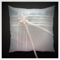 Ice Blue Ring Bearer Pillow by yellowroseaccents on Etsy, $23.95