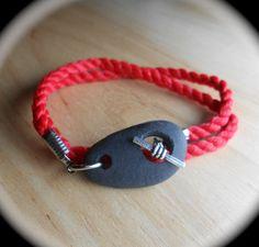 Beach Stone Jewelry  Rock Wrap Bracelet  SURF by SeaFindDesigns, $35.00