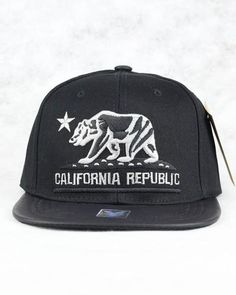 CALIFORNIA REPUBLIC PU SNAPBACK (BLACK & BLACK) – Kurolabel Brand
