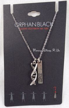 NEW Orphan Black Cosima Niehaus DNA Helix 2 Pendant Necklace HT Exclusive | eBay