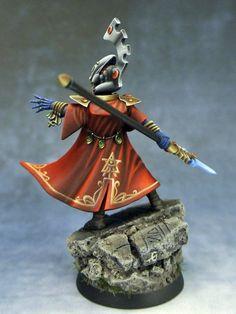 Amazing cloak blends and freehand Eldar 40k, Warhammer Eldar, Warhammer 40k Miniatures, Fantasy Miniatures, Mini Paintings, Toy Soldiers, Miniture Things, Furry Art, Painting Inspiration