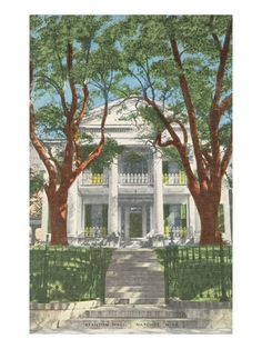 Stanton Hall, Natchez, Mississippi, is the other plantation used for the mini series North and South.