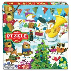 Snowman's Band Glitter Puzzle is a puzzle featuring a glittery winter scene of four snowmen playing musical instruments. Christmas Puzzle, All Games, Baby Store, Puzzle Pieces, Winter Scenes, Band, Crate And Barrel, Cool Toys, Crates