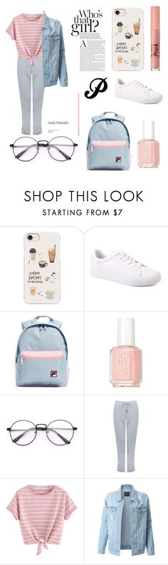 """daily style"" by purishiveinz on Polyvore featuring Casetify, Fila, Essie, M&Co, LE3NO and Too Faced Cosmetics"