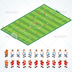 Soccer Tactical Kit.. Isometric Vector Illustration of Football Field and Abstract Team, all Elements Separated and Grouped SPORT & LEISURE VECTOR CLIP ART MORE VECTOR FONTS  MORE VECTOR DESIGN ELEMENTS, TEMPLATES, LOGOSFUNNY CARTOON CHARACTERS, ANIMALS, OBJECTS¡­  FOOD and DRINKS VECTOR CLIP ART  MORE BUTTONS, ICONS, INFOGRAPHICS and WEB ELEM