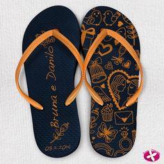 Chinelos Personalizados para Lembrancinhas de Casamento. www.rosapittanga.com.br #chinelo #chinelos #chinelospersonalizados #chineloscasamentos #chinelinhoscasamento #lembrancinhasdecasamento