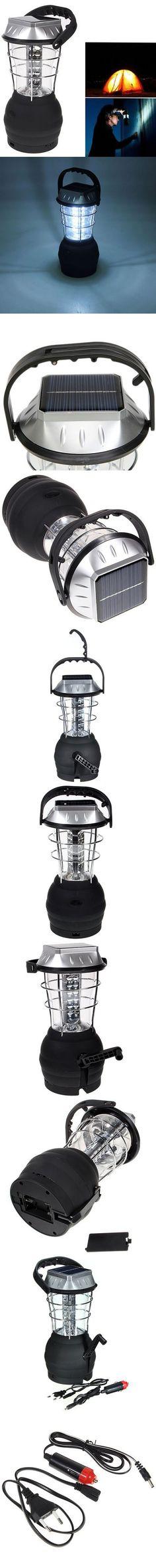 Outdoor Lights   CIS - 54038 36 - LED Hand Crank Solar Lantern Camping Lamp