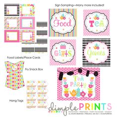 Printable party package mad hatter alice in wonderland tea party