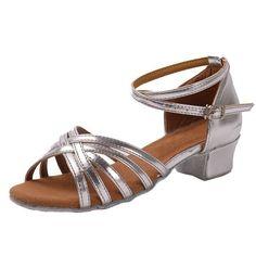 Ballroom Tango Latin dance shoes low heels dancing for kids girls children women ladies free shipping in stock