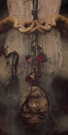 """Buried alive-Nyssa. Holding a small bouquet of red roses in a wooden coffin. Buried in an off-white dress that is now stained with dirt splotches. She looks like she's alive, but she is sleeping and won't wake up. Cas has to kiss her to wake her up after he asks her grandmother what fairy tale consists of a sleeping girl in a dress. He knows that the antagonist is obsessed with fairy tales because when he found out and tried to push her away from him, she keeps saying, """"but you're my prince…"""