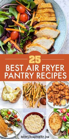 With these 25 Air Fryer Pantry Recipes, it's easy to make amazing, affordable and delicious dishes at home with ingredients you already have on hand! Air Fryer Dinner Recipes, Air Fryer Recipes, Lunch Recipes, Breakfast Recipes, Cooking Recipes, Healthy Recipes, Breakfast Healthy, Dinner Healthy, Steak Recipes