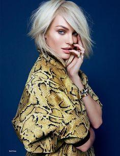 Candice Swanepoel goes platinum for ELLE UK