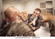 Business fight - stock photo