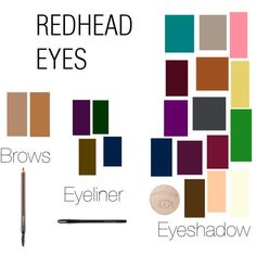 make up eyeshadow shades for red heads