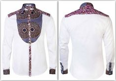Shirt with African print by Kofijerryoutfit on Etsy African Shirts For Men, African Clothing For Men, African Print Fashion, African Fashion Dresses, African Attire, African Wear, African Dress, Mens Fashion Suits, Fashion Wear